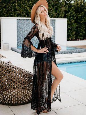 duga haljina za plažu